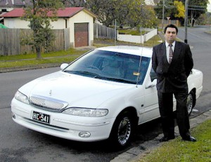 John Aquilina with one of his first cars in 1995